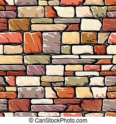 Farbsteinmauer