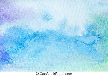 Farbstriche, Wasserfarbenmalkunst
