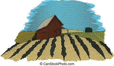 Farm-Szenenfarbe