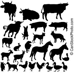 Farmtier-Silhouettes-Set