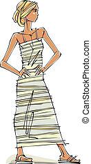 Fashion Girl posing.