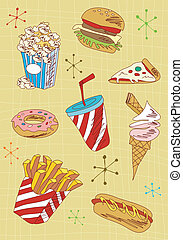 Fast-Food-Icons gesetzt