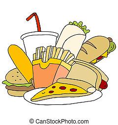 Fast Food-Set.