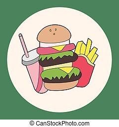 Fast Foods Themenelemente.