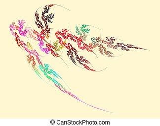 Feathery Blumen
