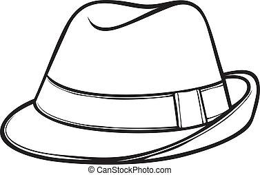 Fedora Hut (Männerklassiker Fedora)