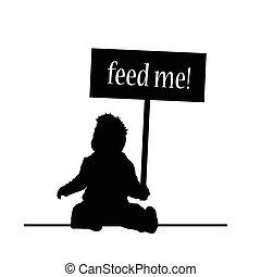 Feed Babyvektor.