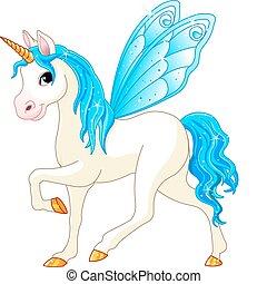 Feenschwanz, blaues Pferd