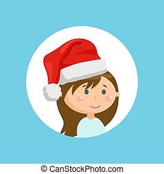 feier, weihnachtsurlaub, hut, winter, m�dchen