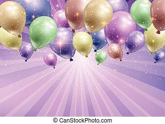 Feierlicher Hintergrund mit Ballons 0103.