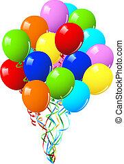 Feiern oder Geburtstagsballons.
