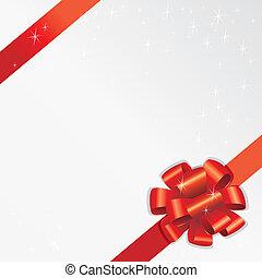 feiertag, geschenkband, (vector)