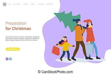 feiertage, vorbereitung, familie, winter, weihnachten