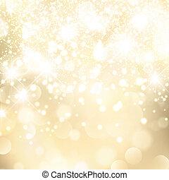 Feiertagsgoldenenen Hintergrund abbrechen
