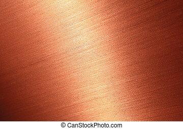 Fein gebürstete Kupfer Textur.