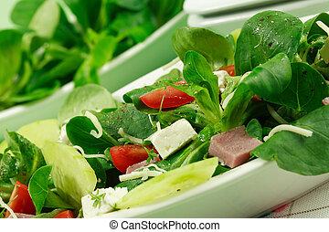 Feldsalat, gesundes Essen