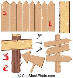 Fences und Richtungsschilder