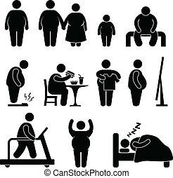 Fetter Mann Übergewicht