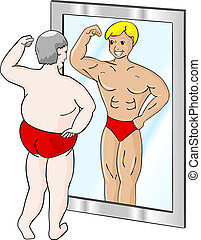 Fetter Muskelmann