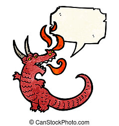 Feuer atmender Drachen Cartoon