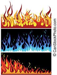 Feuer Hintergrund eingestellt