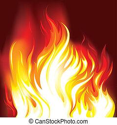 Feuer im Hintergrund
