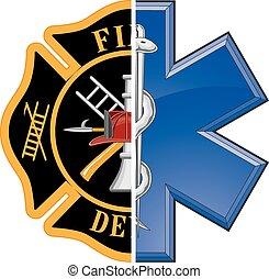 Feuer und Rettung.