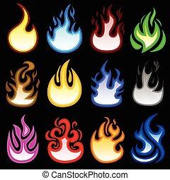 Feuerflamme brennt Icon