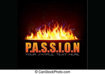 Feuerflamme zeigt Leidenschaft