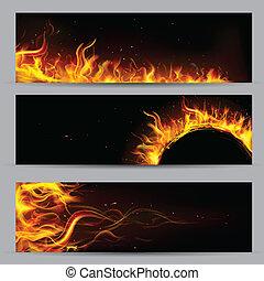 Feuerflammen-Temperatur