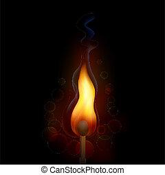 Feuerschutzflamme