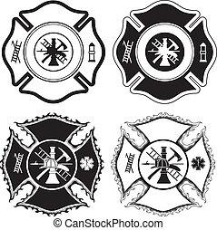 Feuerwehrkreuze Symbole