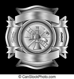 Feuerwehrleute überqueren Silber