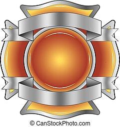 Feuerwehrleute kreuzen mit Bändern