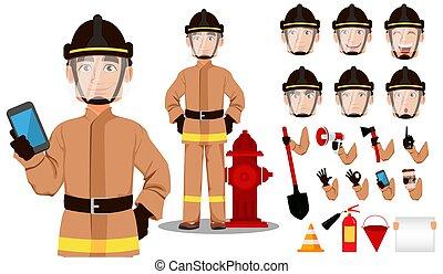 Feuerwehrmann-Cartoon Charakter