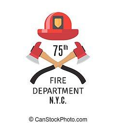 Feuerwehrmann mit Kreuzachsen.