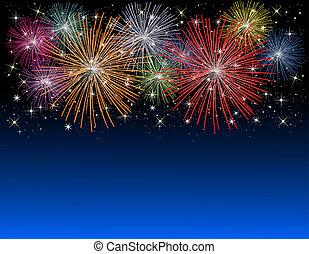 Feuerwerk in neuen Jahren.
