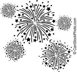 Feuerwerk schwarz