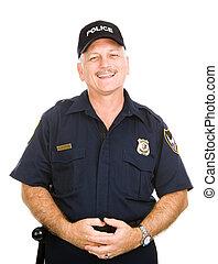 feundliches , polizeibeamter