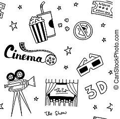 Film-Doodle-Hintergrund.