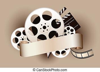 film, thema, entwerfen element