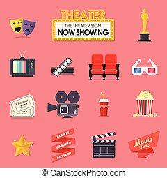 Film- und Film-Ikonen eingestellt