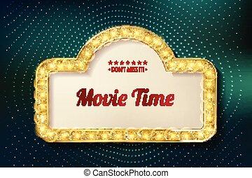 Film-Zeit-Kino Premiere Poster Design.