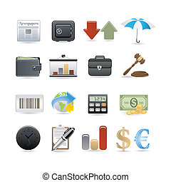 Finanz-Icon-Set