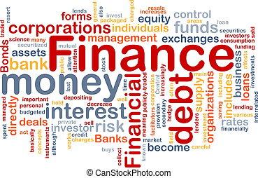 Finanz-Wortwolke.