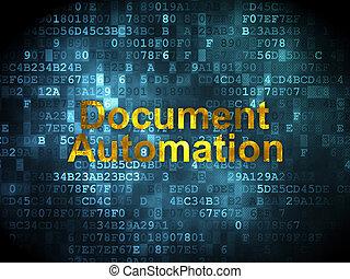 Finanzkonzept: Dokumentarautomatisierung im digitalen Hintergrund
