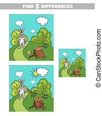 Finde Unterschiede mit Karotte