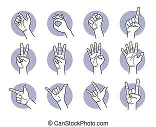 finger, hand, gestures.