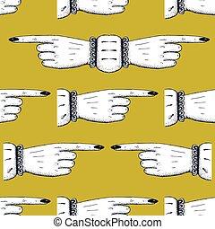 Finger lückenlos zeigen.