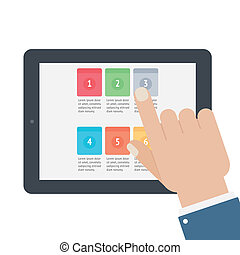 Finger Touch Tablet App Screen.
